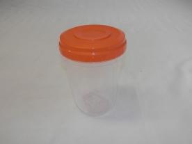 Hengeres, műanyag tárolódoboz 950 ml vegyes színben