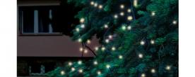 Home LED-es fényfüzér melegfehér, sorolható kültéri (KTI 100/WW)