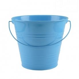 Virágtartó vödör kék bádog, 20 cm (72249-kék)