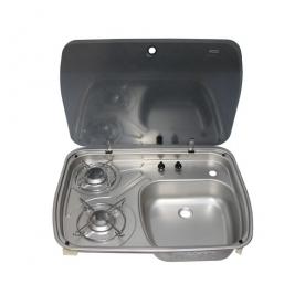Dometic beépíthető gázfőzőlap + mosogató CE00-Mini/BO-HI/27-I-G, PB-gáz üzemű
