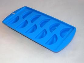 Gumis, citrom alakú jégkocka készítő kék