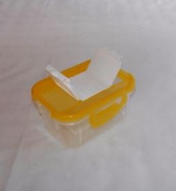 Fűszertartó szóró tetővel,  sárga műanyag 0,5 kg