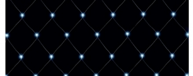 Home LED-es háló, hidegfehér 2x1,5 m (KLN 160/WH)