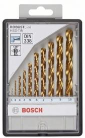 Bosch Robust Line HSS-TiN fémfúró készlet, 10 részes (2607010536)