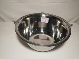 6 literes rozsdamentes acél gulyásbogrács minőségi vastag falú