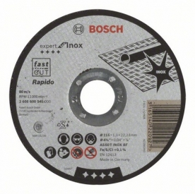 Bosch Darabolótárcsa egyenes Expert for Inox, AS 60 T INOX BF, 115 mm, 22,23 mm, 1 mm (2608600545)