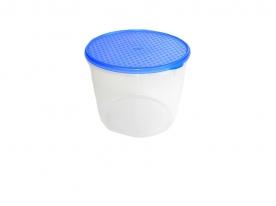 Mércés, műanyag ételdoboz hengeres 1 L kék (303)