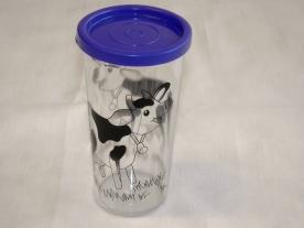 Bambi műanyag pohár, légmentesen záródó lila