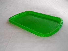 Csúszásgátlós zöld műanyagtálca 32,5 x 48 cm