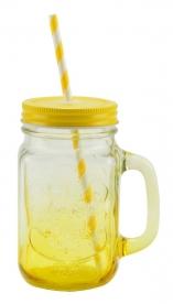 Befőttesüveg bögre, sárga (13102-sárga)