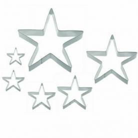 Sütikiszúró készlet csillag, 6 db-os (10354)