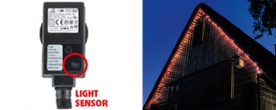 Home LED-es fényérzékelős fényfüzér, piros (KTL 108/RD)