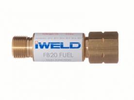 Iweld FB20 visszavágás-gátló patron markolatra, égőgázhoz G3/8 LH