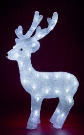 Home LED-es rénszarvas dekoráció, akril 65 cm (KDA 3)