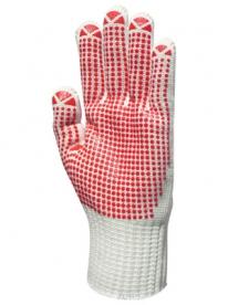 EP textilkesztyű csúszás ellen, piros pöttyös 8-as (GAN4377)
