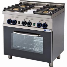 4 égős gáztűzhely gázos grill sütővel - GT4-68GS
