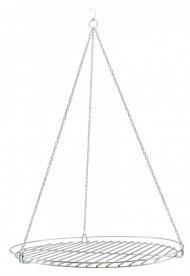 Grillrács krómozott, kör 50 cm, lánccal (10573)