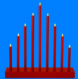 Home LED-es gyertyapiramis, piros (KAD 09/RD)