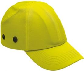 Baseball sapka beépített protektorral, fluo sárga (57307)