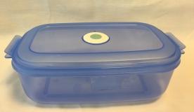 Dátumjelzős, műanyag téglalap micro doboz 1,5 l, kék (238)