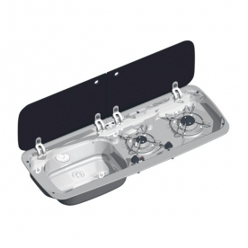 Dometic beépíthető gázfőzőlap + mosogató MO922L, PB-gáz üzemű