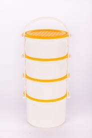 Műanyag Ételhordó 4 részes fehér