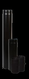 Vastag falú füstcső, huzatszabályozós 120/250 mm (13007)