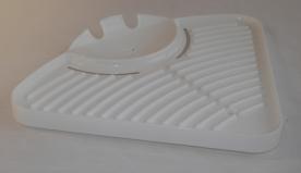 Gumitalpas sarokpolc kádhoz műanyag