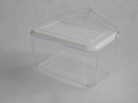 Fali műanyag sótartó fehér