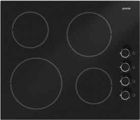 Gorenje beépíthető üvegkerámia főzőlap EC610SC