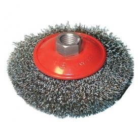 Extol Craft drótcsiszoló körkefe, kúpos, sarokcsiszolóhoz 100 mm (17006)