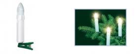 Home LED-es gyertya fényfüzér, csiptetős (KI 16L)