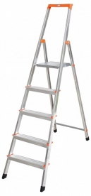 Krause Monto Solidy állólétra 5 lépcsőfokos (126238)