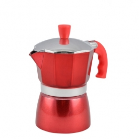 Kávéfőző 3 személyes kotyogós, piros (10059)
