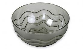 Műanyagtál hullám díszítéssel 2,5 l