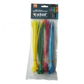 Extol kábelkötegelő 3,6x200 mm színes 100 db (8856196)