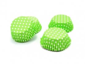 Muffinpapír zöld pöttyös 100 db, nagy (72101-Z)