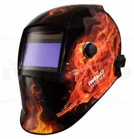Iweld Fantom4 automata hegesztő fejpajzs (tűz-koponya)