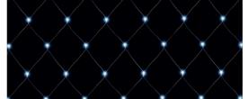 Home LED-es háló hidegfehér, kültéri 6x4 m (KLN 400/WH)