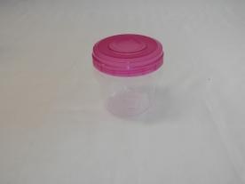 Hengeres, műanyag tárolódoboz 750 ml vegyes színben