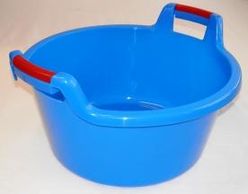 Fogantyús műanyag lavór, 30 l, kék