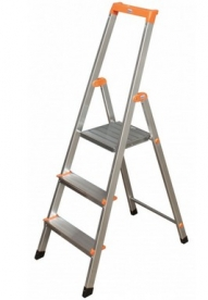 Krause Monto Solidy állólétra 3 lépcsőfokos  (126214)