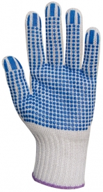 EP textilkesztyű csúszás ellen, kék pöttyös 8-as (GAN4374)