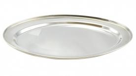 Rozsdamentes tálca, ovális 30 cm (11470)