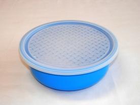 Frissentartó műanyagdoboz 2l kék