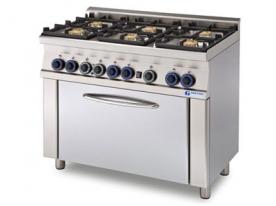 6 égős gáztűzhely, elektromos sütővel - GT6-610ES