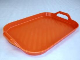Műanyag füles tálca 43x33 cm narancs