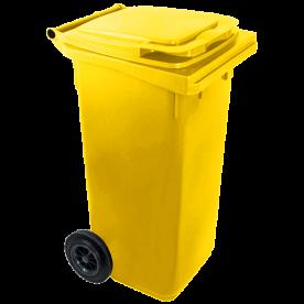 Háztartási szemetes kuka, sárga 240 L (11961)
