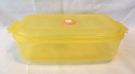 Dátumjelzős, műanyag téglalap micro doboz 2,2 l, sárga (239)
