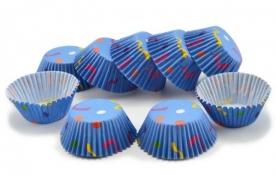 Muffinpapír kék szerpentines 100 db, kicsi (72101-7)